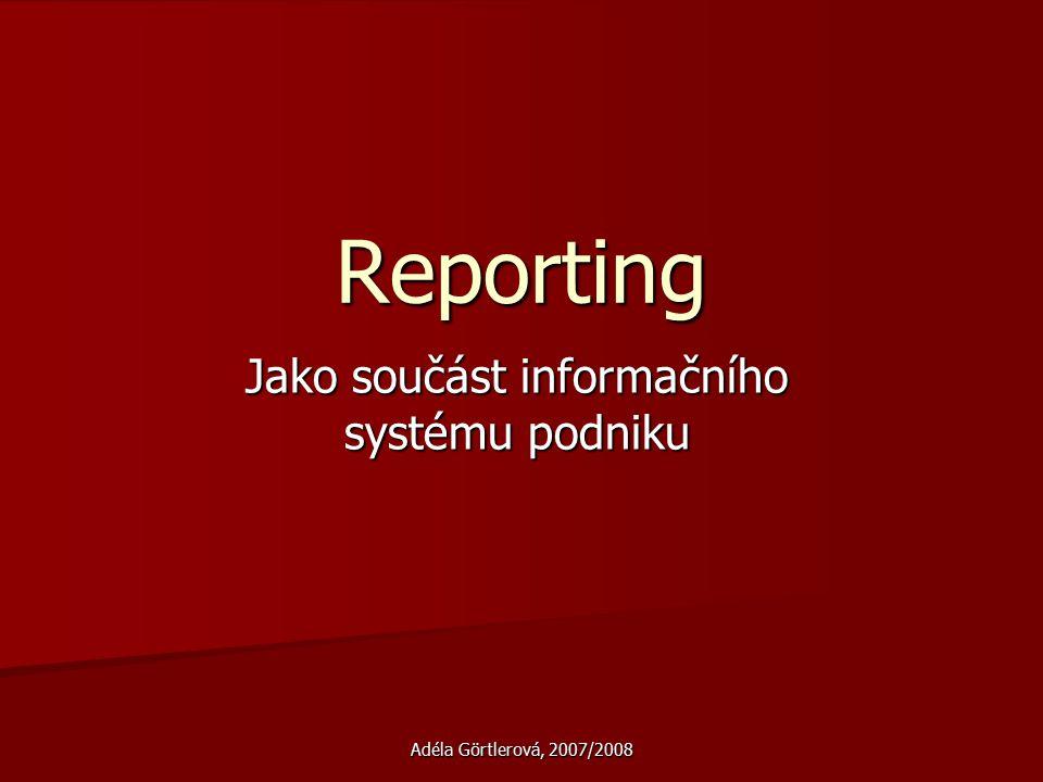 Jako součást informačního systému podniku