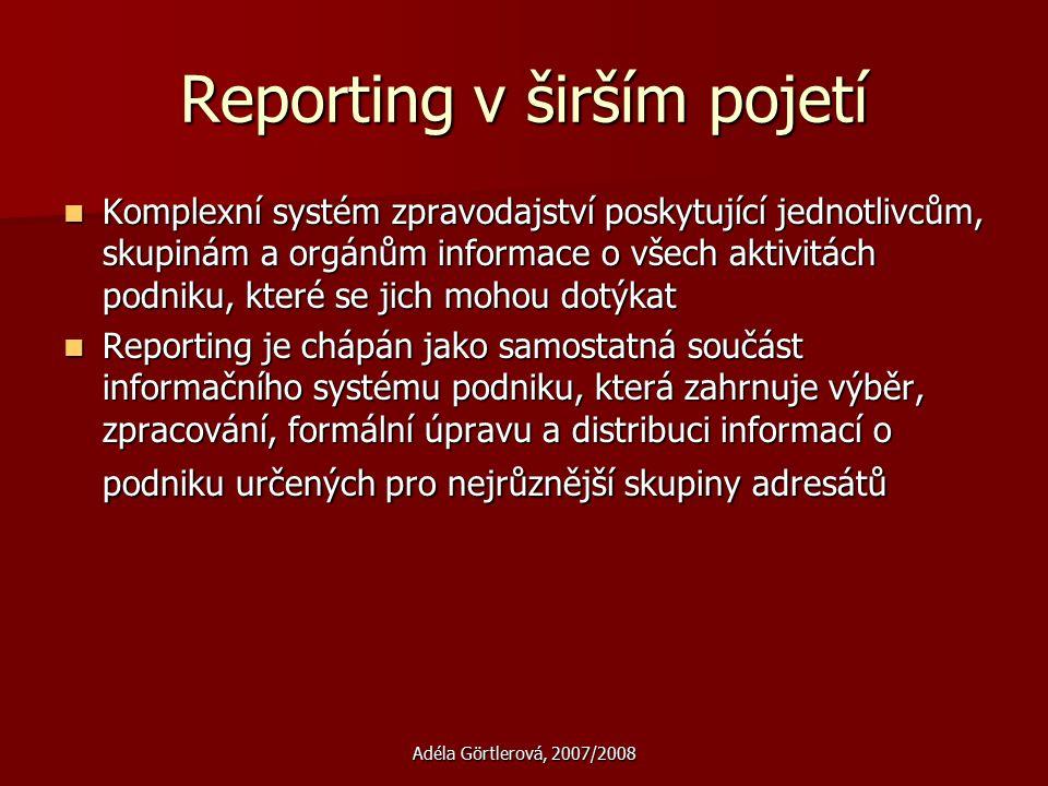 Reporting v širším pojetí