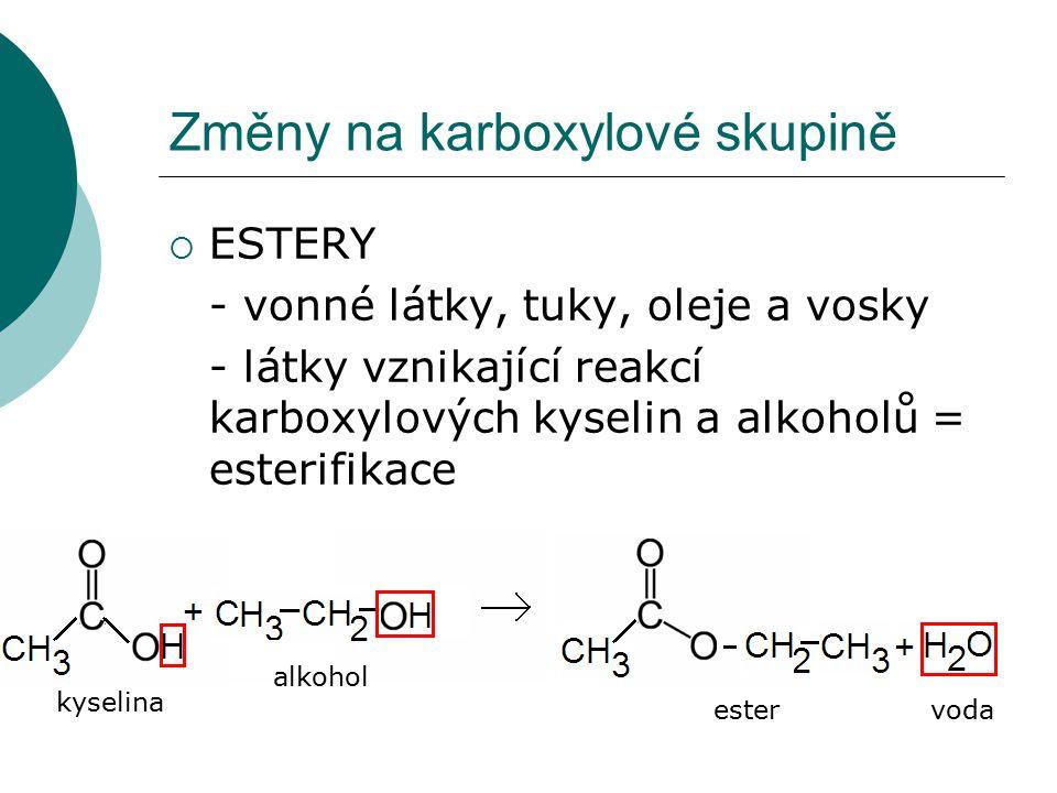 Změny na karboxylové skupině