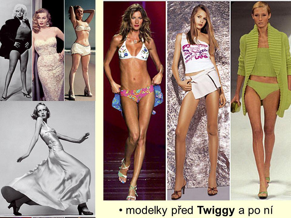 modelky před Twiggy a po ní