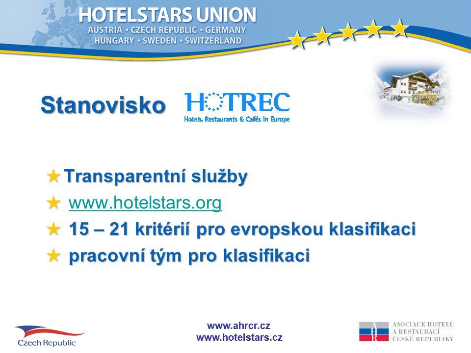 Stanovisko Transparentní služby www.hotelstars.org