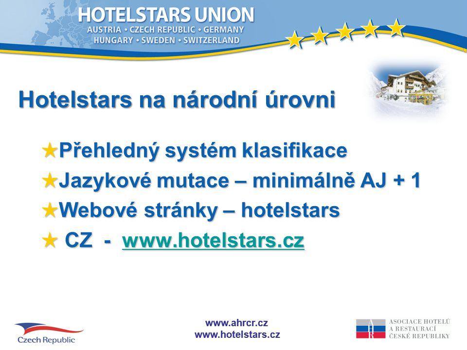 Hotelstars na národní úrovni