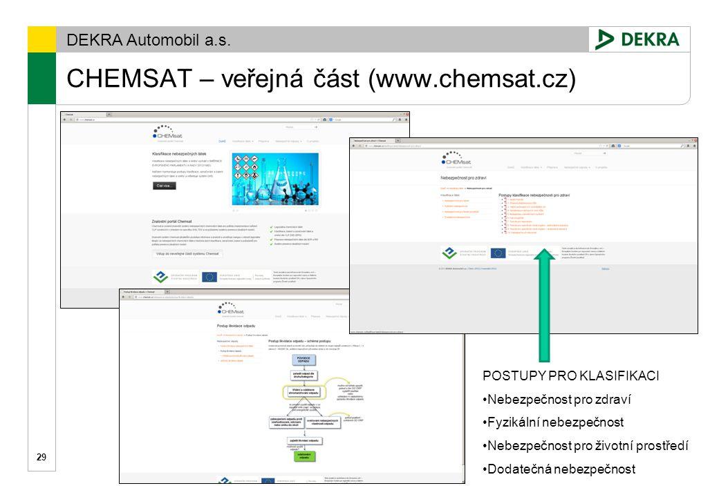 CHEMSAT – veřejná část (www.chemsat.cz)