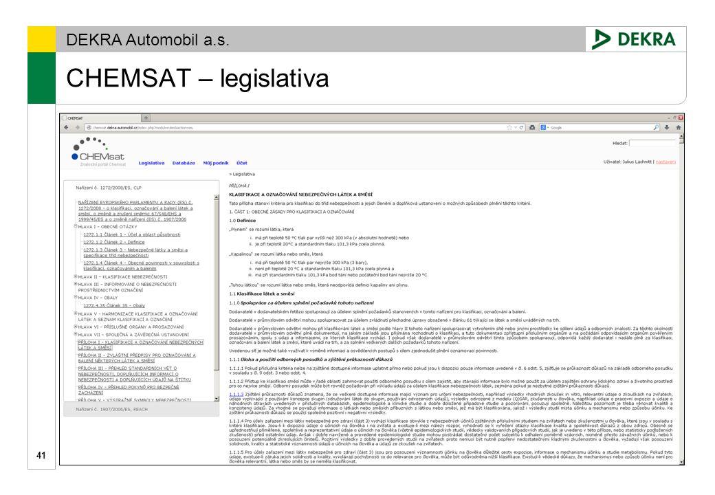 CHEMSAT – legislativa