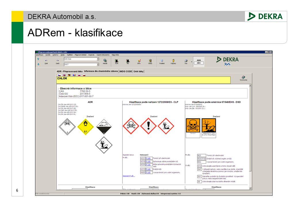 Gremiální porada 15. 12. 2009 ADRem - klasifikace