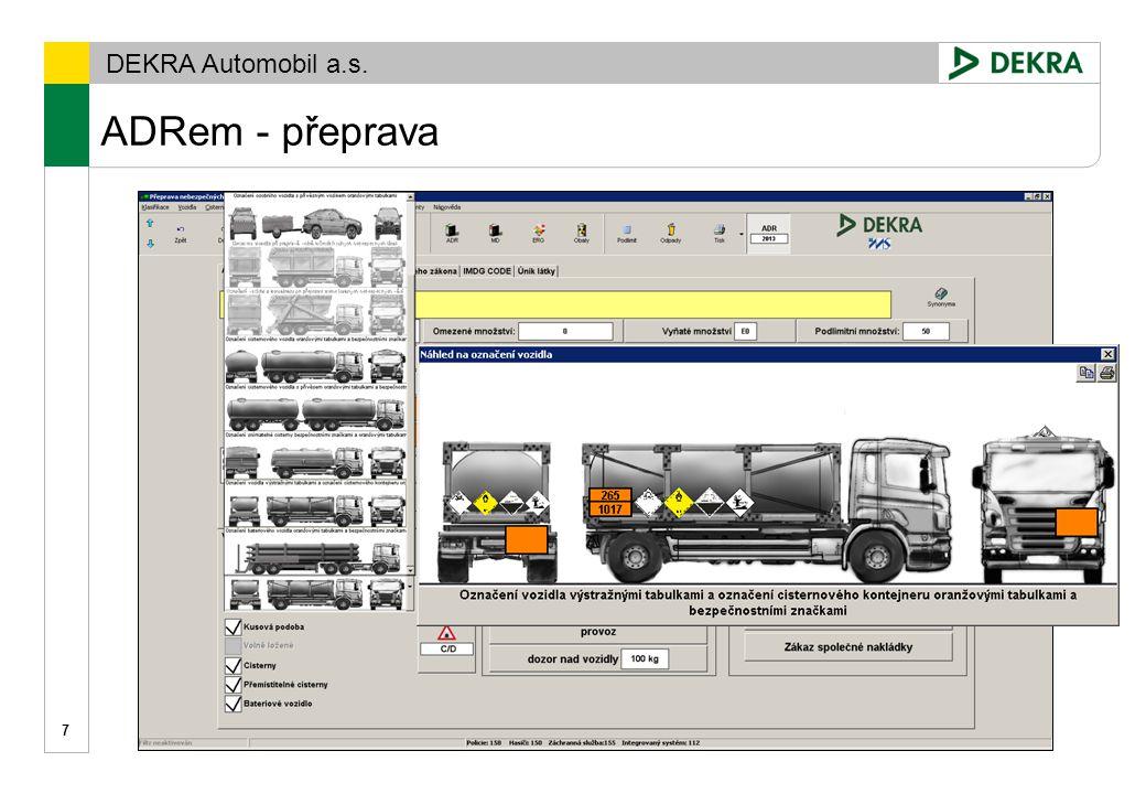 Gremiální porada 15. 12. 2009 ADRem - přeprava