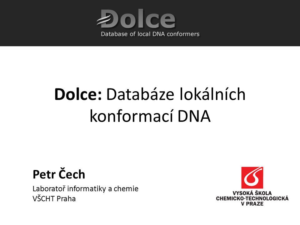 Dolce: Databáze lokálních konformací DNA