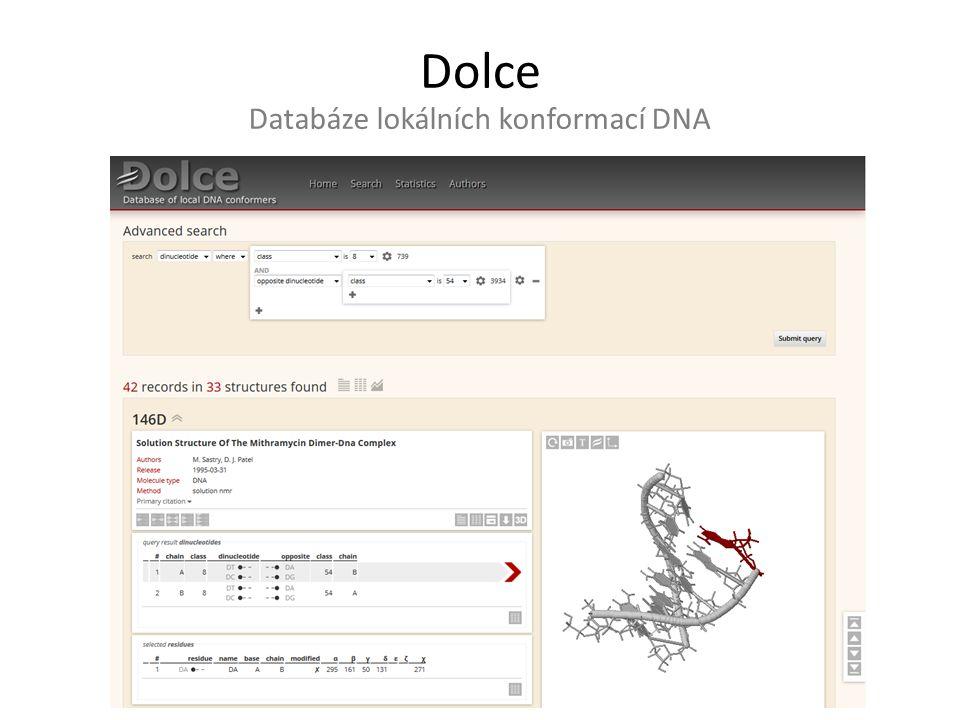 Databáze lokálních konformací DNA