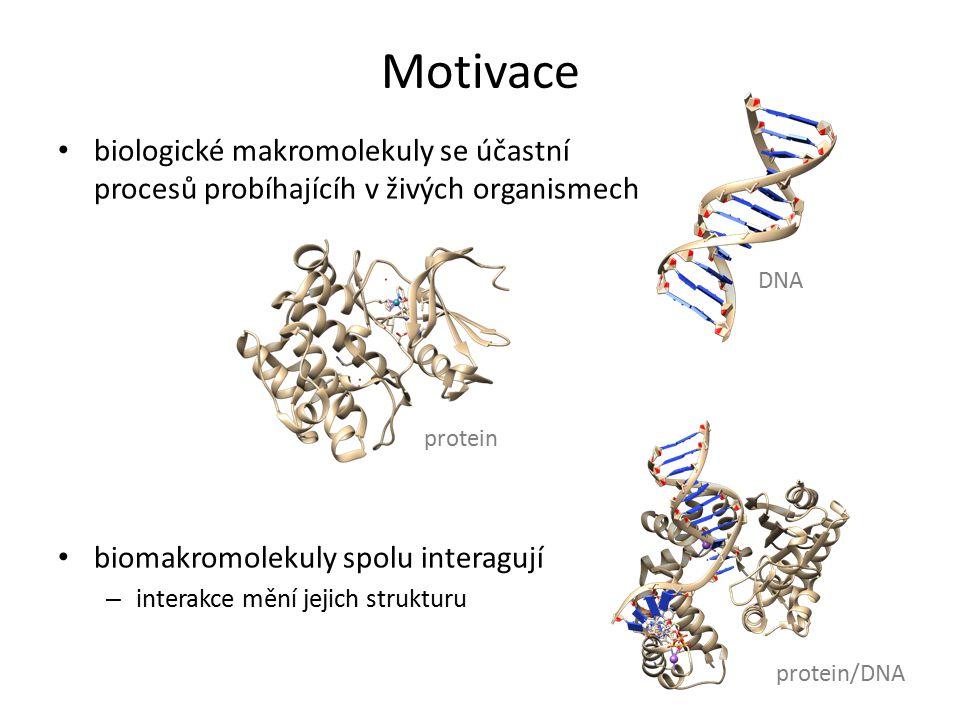 Motivace biologické makromolekuly se účastní procesů probíhajícíh v živých organismech. biomakromolekuly spolu interagují.