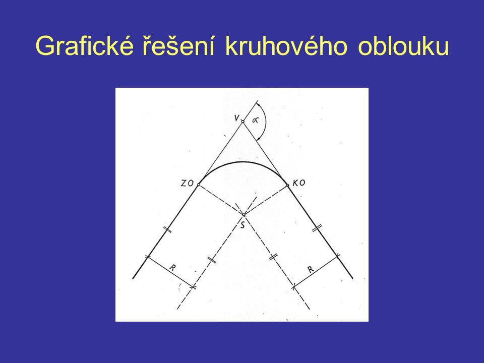 Grafické řešení kruhového oblouku