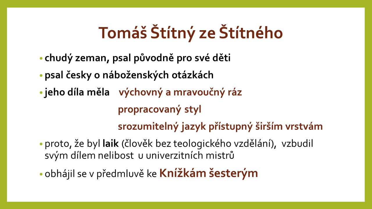 Tomáš Štítný ze Štítného