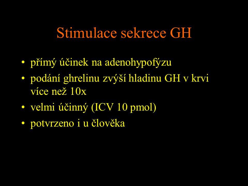 Stimulace sekrece GH přímý účinek na adenohypofýzu