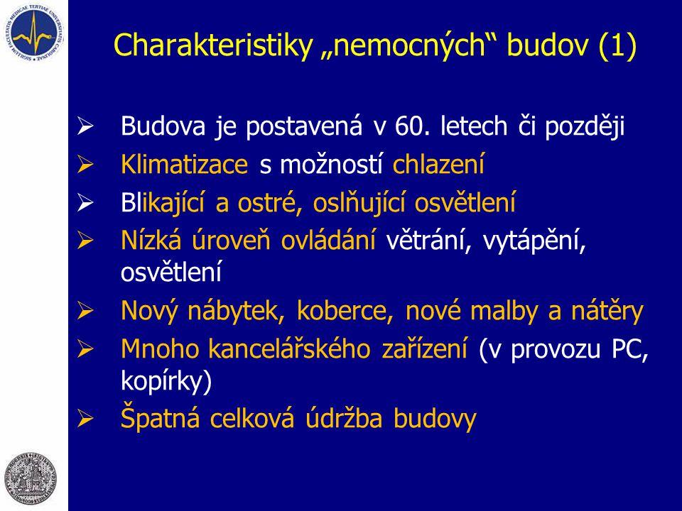 """Charakteristiky """"nemocných budov (1)"""