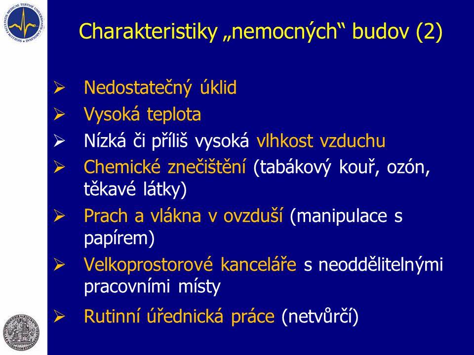"""Charakteristiky """"nemocných budov (2)"""