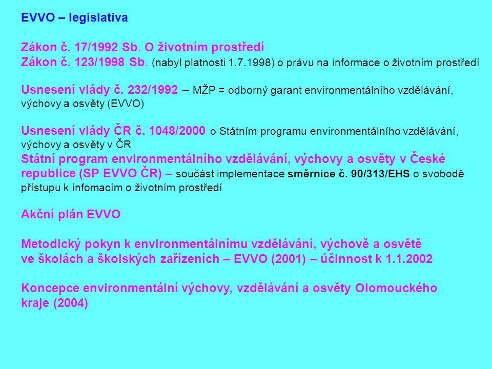 Zákon č. 17/1992 Sb. O životním prostředí