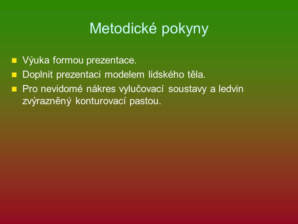 Metodické pokyny Výuka formou prezentace.