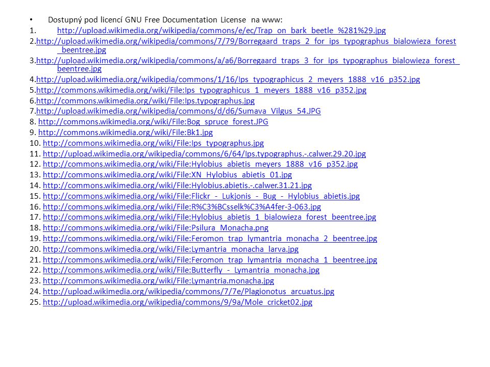Dostupný pod licencí GNU Free Documentation License na www:
