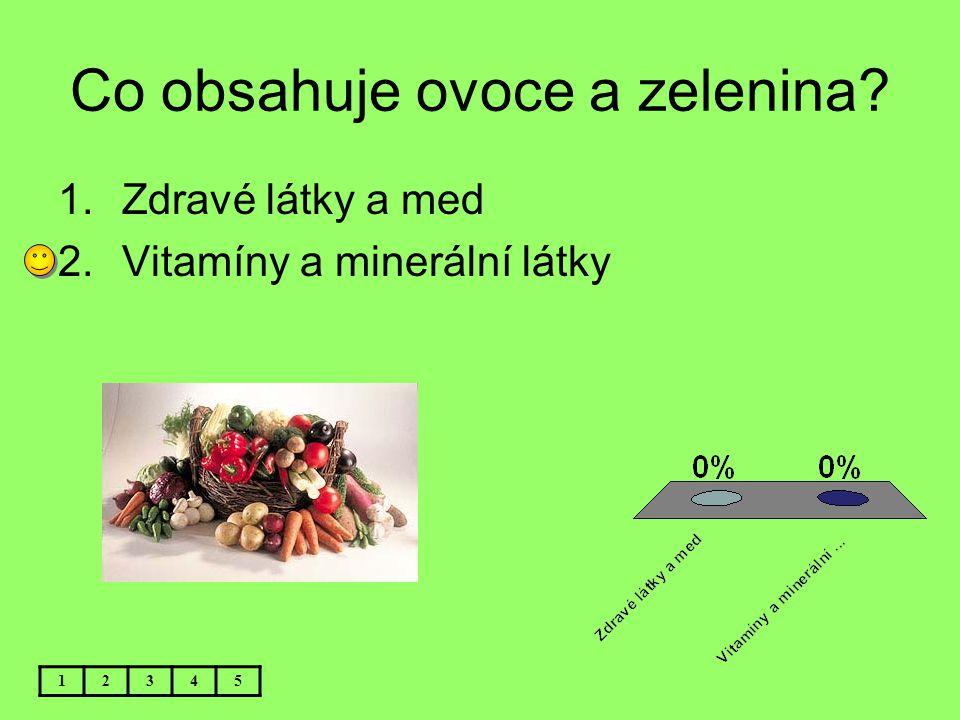 Co obsahuje ovoce a zelenina