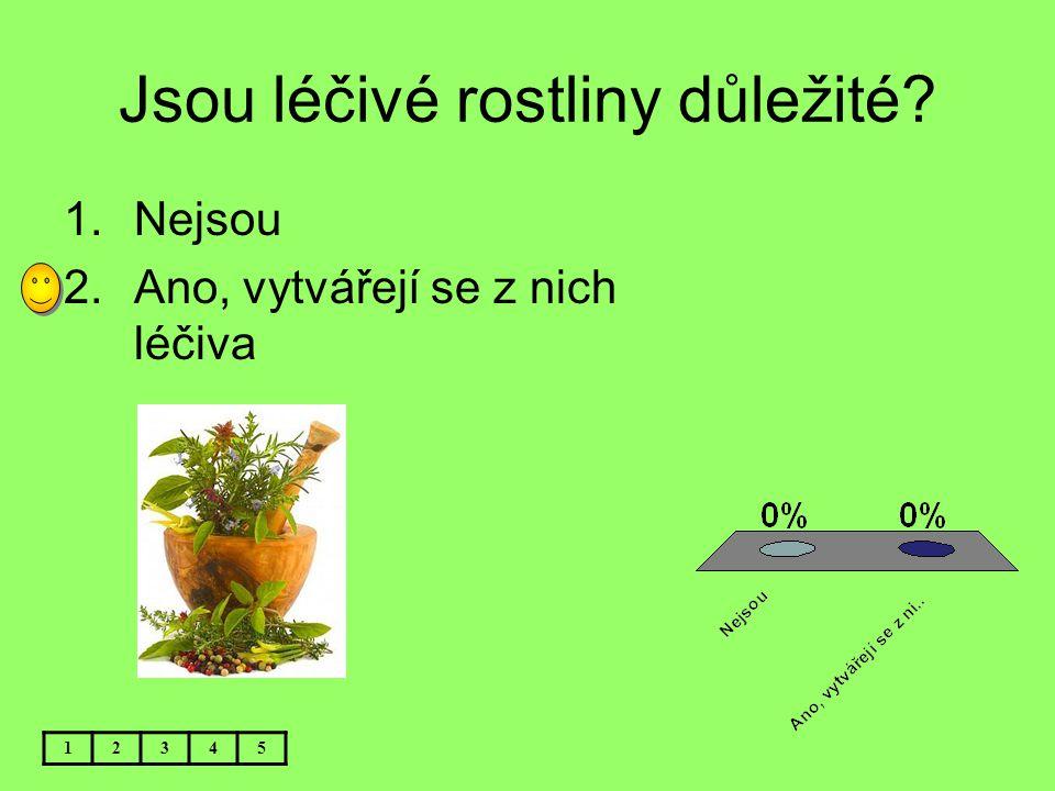 Jsou léčivé rostliny důležité