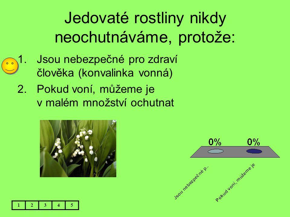 Jedovaté rostliny nikdy neochutnáváme, protože: