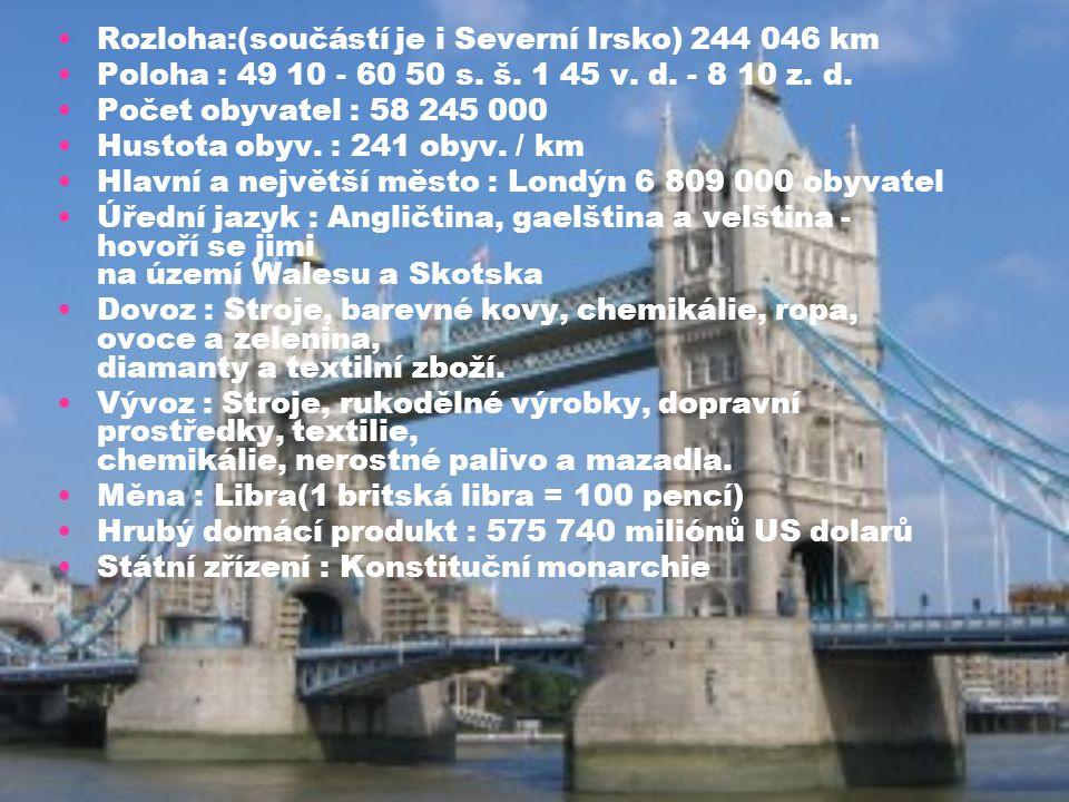 Rozloha:(součástí je i Severní Irsko) 244 046 km
