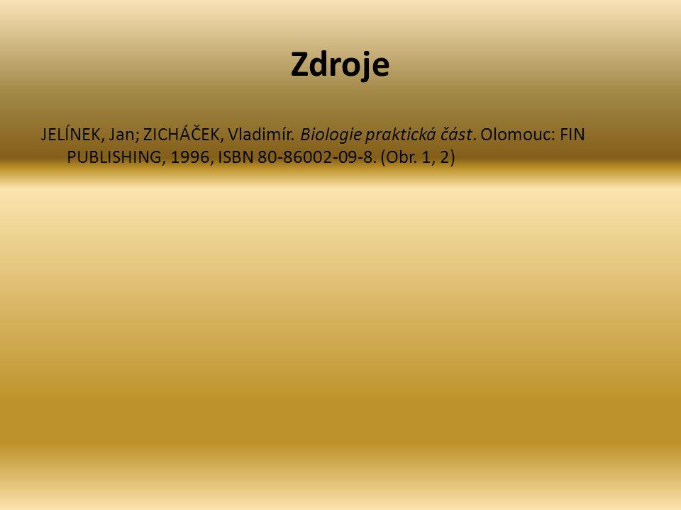 Zdroje JELÍNEK, Jan; ZICHÁČEK, Vladimír. Biologie praktická část.