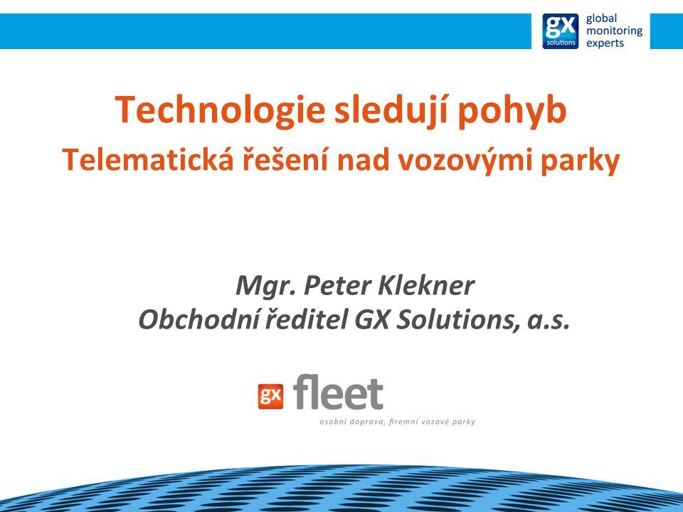 Technologie sledují pohyb Telematická řešení nad vozovými parky