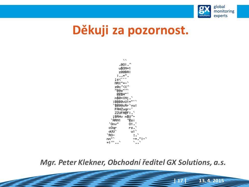 Mgr. Peter Klekner, Obchodní ředitel GX Solutions, a.s.