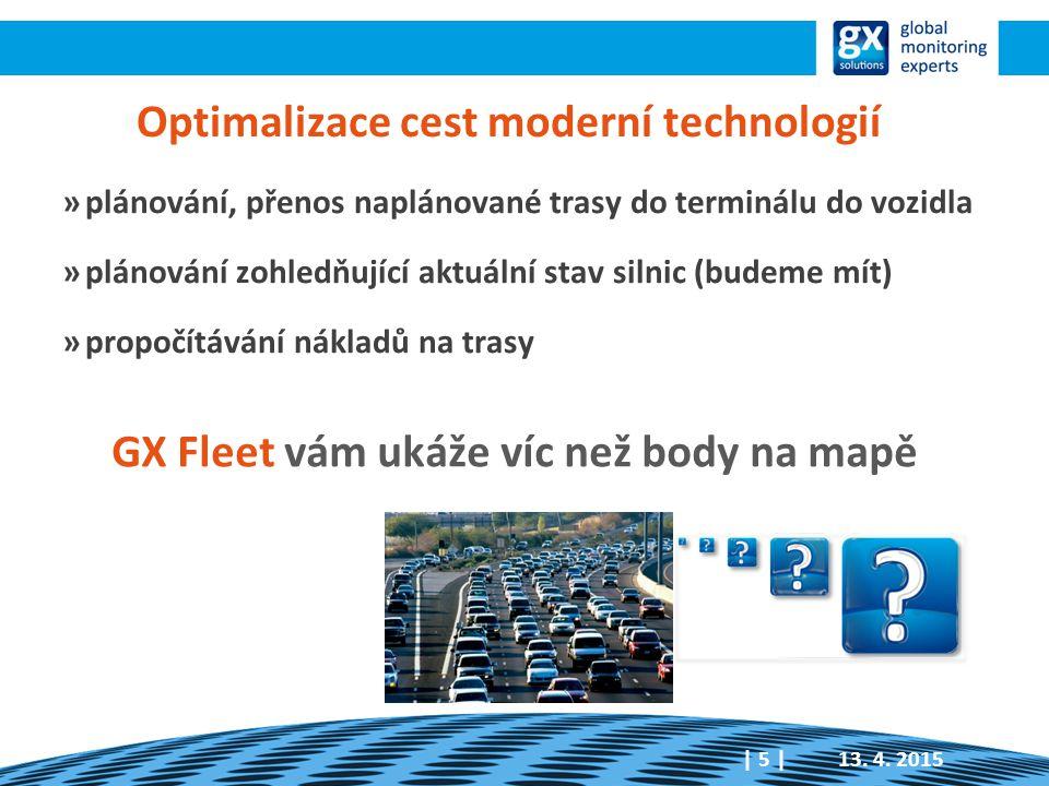 Optimalizace cest moderní technologií