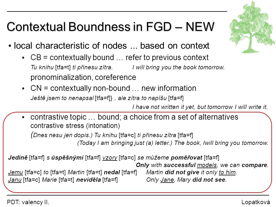 Contextual Boundness in FGD – NEW