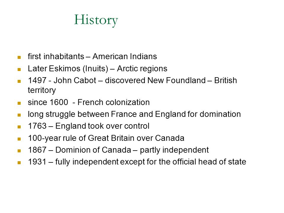 History first inhabitants – American Indians