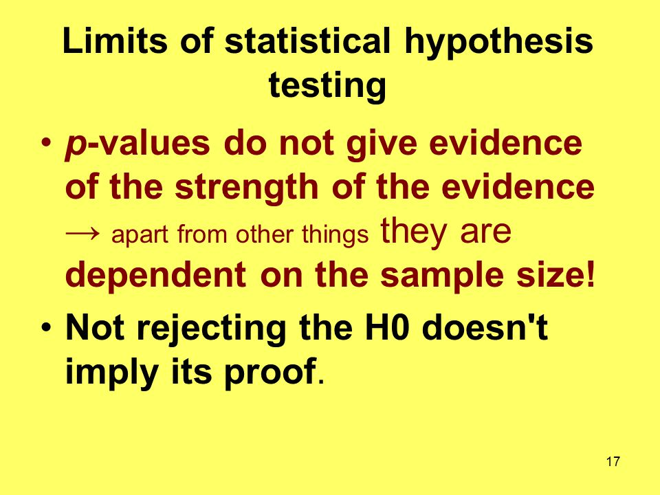 Limits of statistical hypothesis testing
