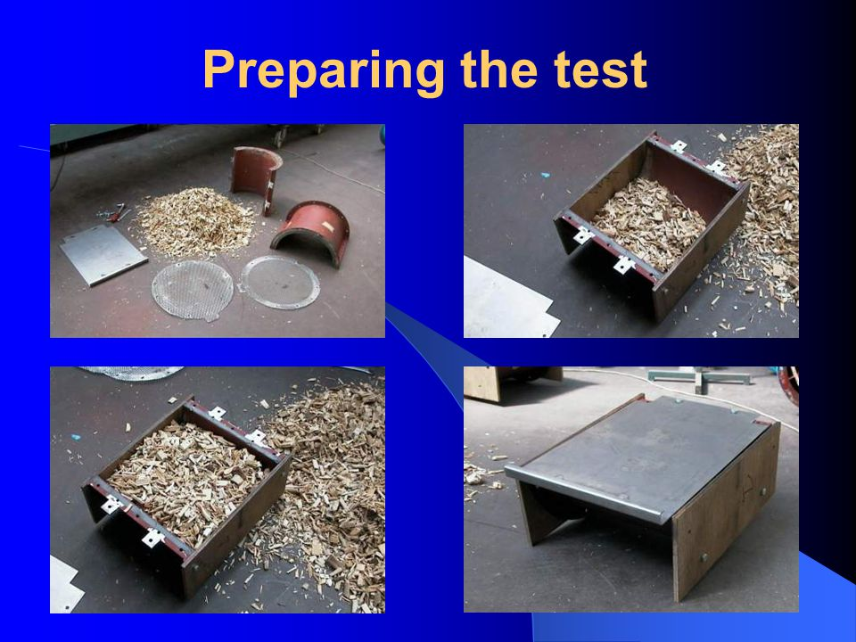 Preparing the test