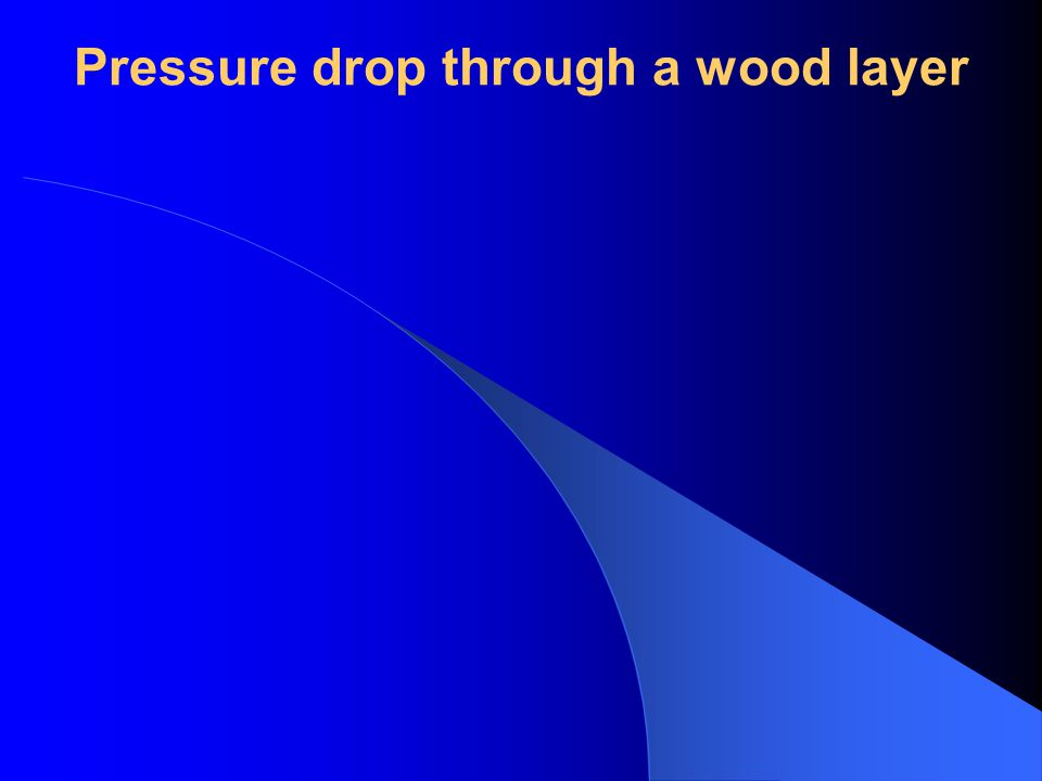 Pressure drop through a wood layer