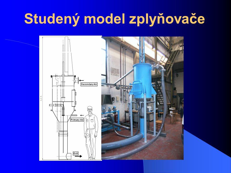 Studený model zplyňovače