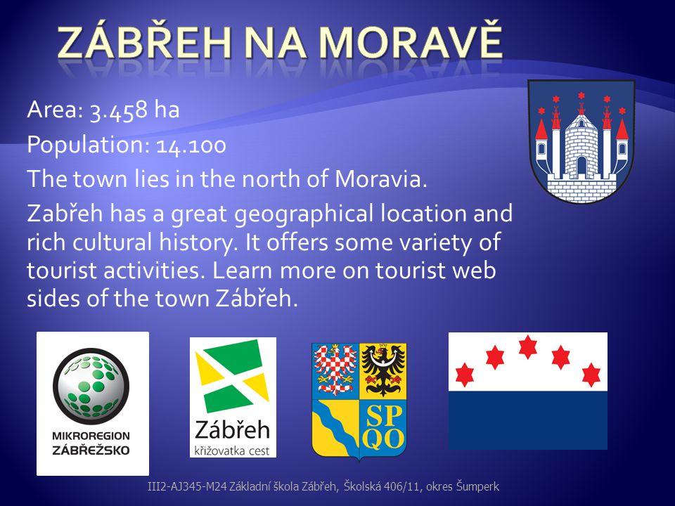 Zábřeh na Moravě Area: 3.458 ha Population: 14.100