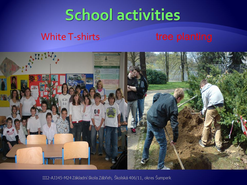 White T-shirts tree planting