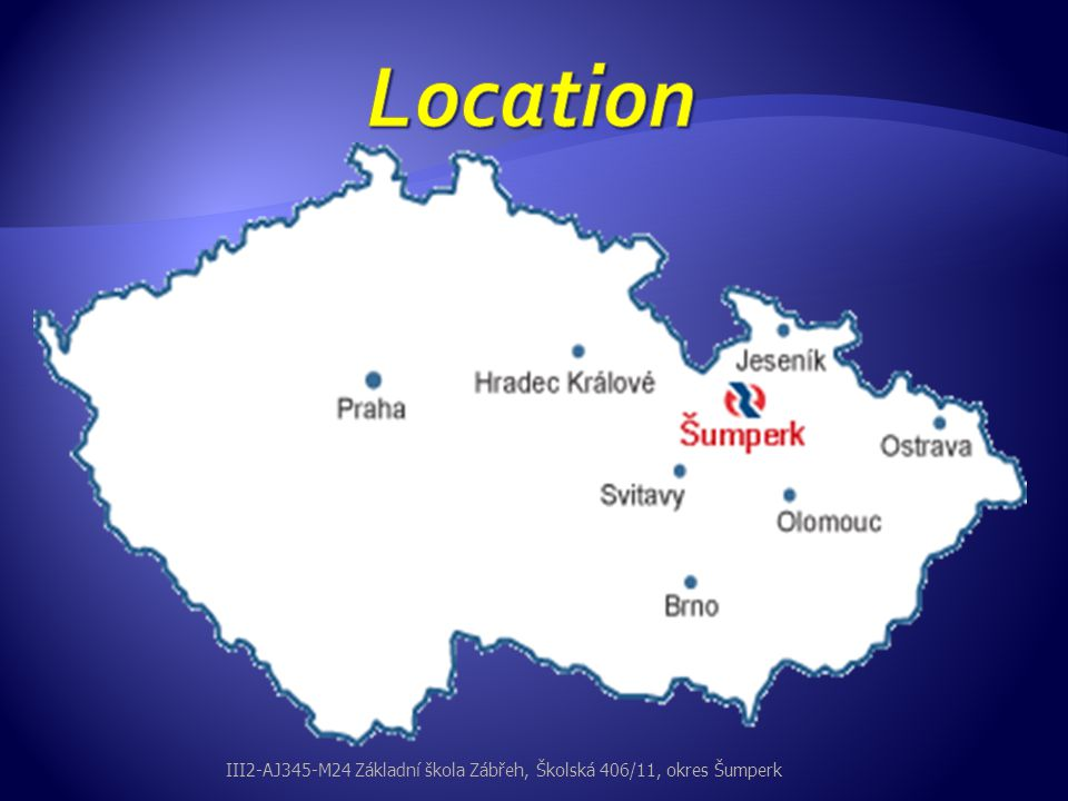 Location III2-AJ345-M24 Základní škola Zábřeh, Školská 406/11, okres Šumperk