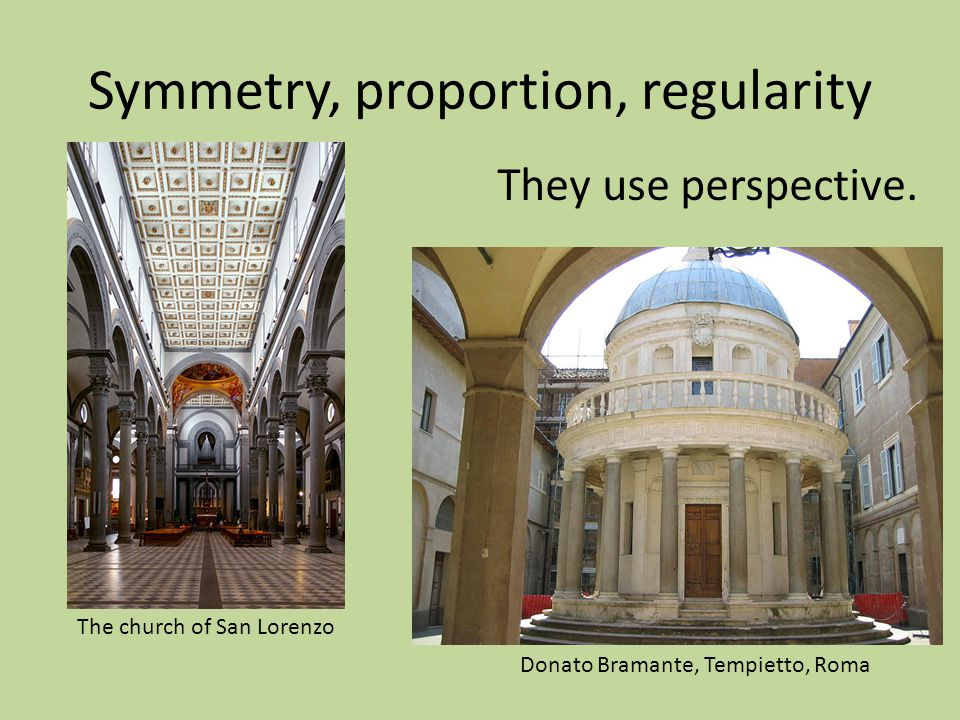 Symmetry, proportion, regularity