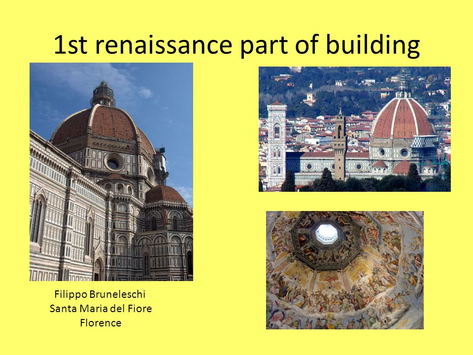 1st renaissance part of building