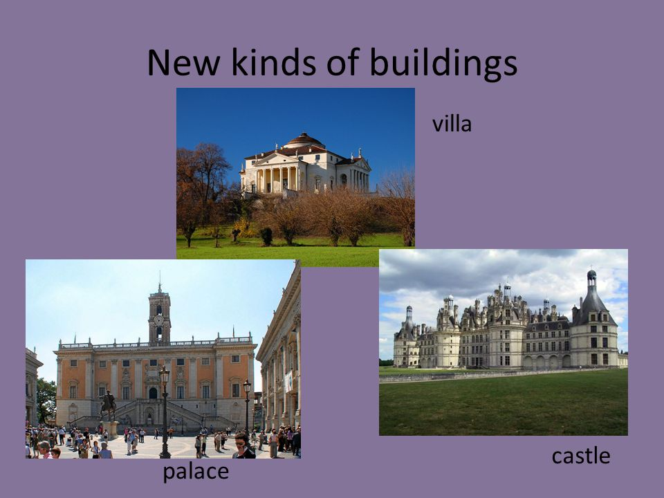New kinds of buildings villa castle palace