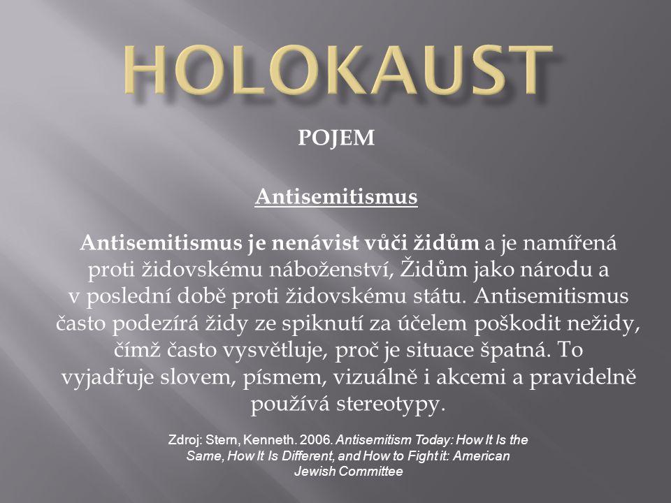 HOLOKAUST POJEM Antisemitismus