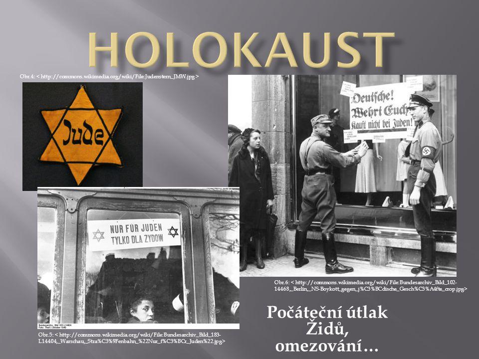 Počáteční útlak Židů, omezování…