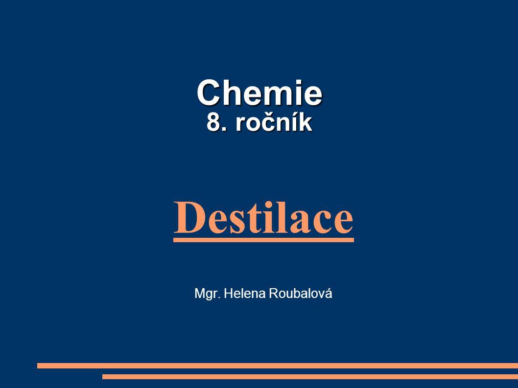 Destilace Mgr. Helena Roubalová