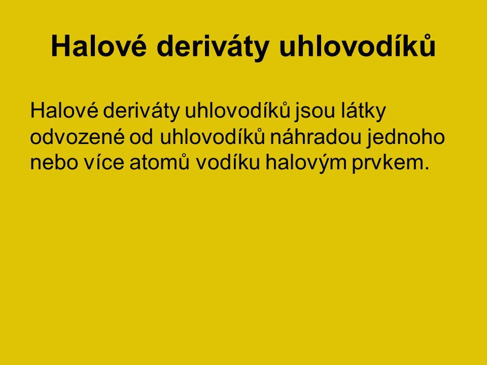 Halové deriváty uhlovodíků