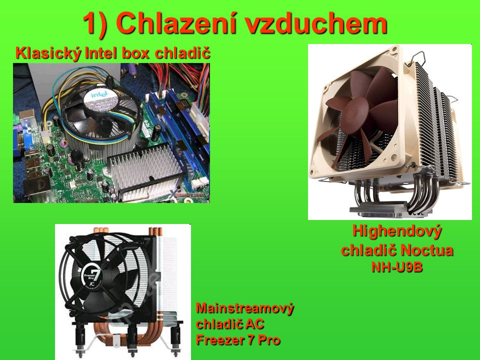 Klasický Intel box chladič Highendový chladič Noctua NH-U9B