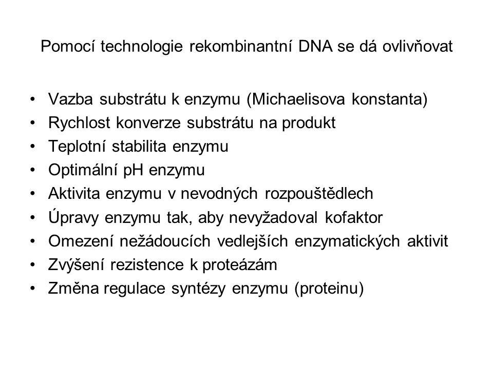 Pomocí technologie rekombinantní DNA se dá ovlivňovat