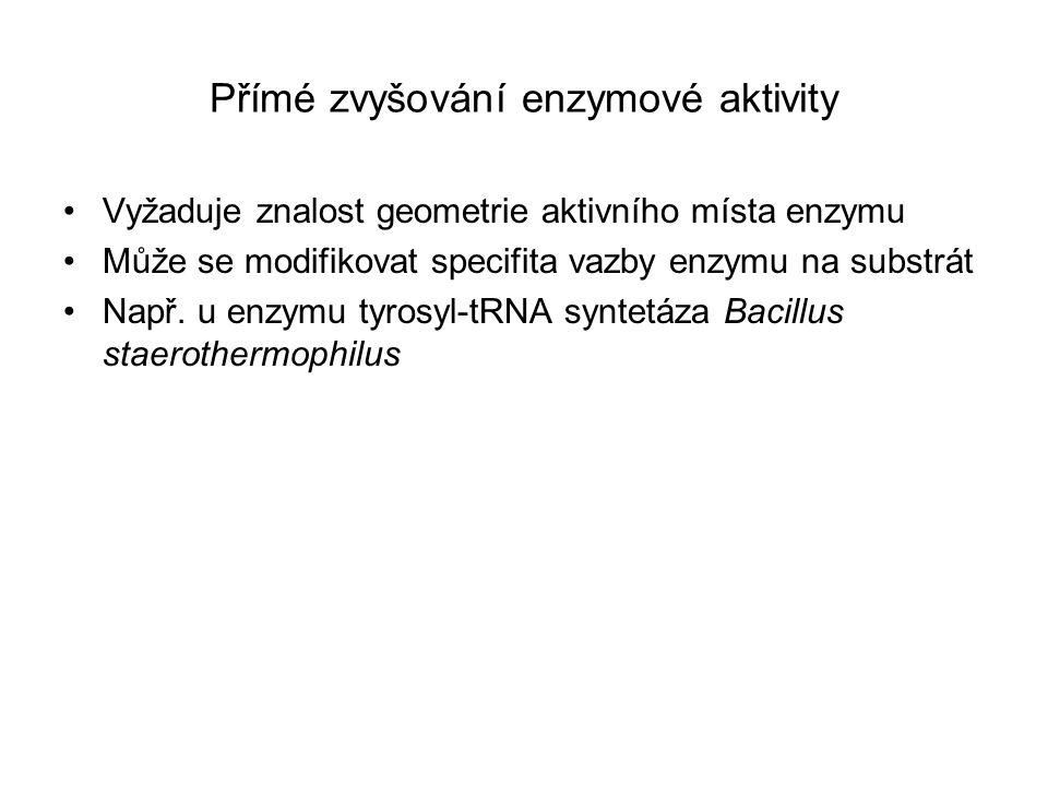 Přímé zvyšování enzymové aktivity