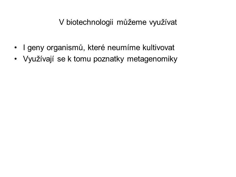 V biotechnologii můžeme využívat