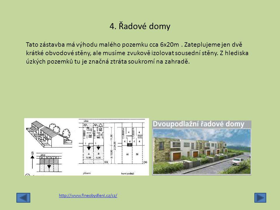 4. Řadové domy